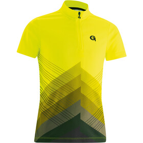 Gonso Como Half-Zip SS Bike Jersey Kids, black/safety yellow